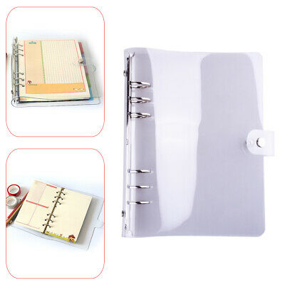 AU13.28 • Buy Clear A5 Loose Leaf Ring Binder Notebook Cover 6 Holes Spiral Core Planner Li
