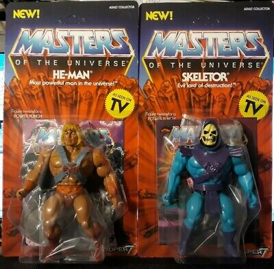 $82 • Buy Lot Of Figure Motu Masters Of The Universe Vintage Super 7 Skeletor He Man
