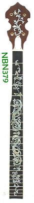 AU146.19 • Buy 5 String 22 Frets Banjo Neck Maple MOP & Abalone Inlaid NBN379