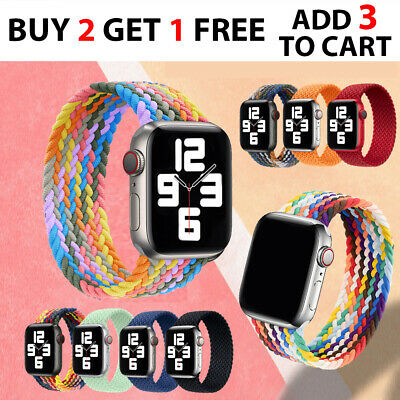 AU9.98 • Buy Nylon Braided Solo Loop Strap Band Apple Watch Series 6 SE 5 4 3 2 1 38/40/42/44