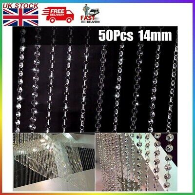 £6.23 • Buy 50PCS Clear Cut Glass Crystals Beads Chandelier Spare Light Parts Bling Drops