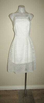 AU9.50 • Buy Forever New Designer Size 16 White Embroidery Cocktail Evening Party Dress