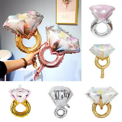 AU2.49 • Buy 1x Diamond Ring Aluminum Foil Balloon Wedding Ballons Birthday Party Home Decor