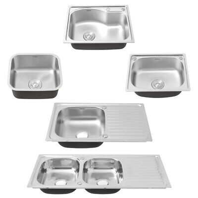 Kitchen Sink Basin Commercial Catering Single/Double Bowl Drainer Kit With Waste • 39.95£
