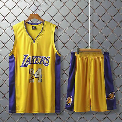 £15.99 • Buy Basketball Jersey #24 Number Adult Men Top+Shorts Suit Set Training Clothes