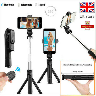 £8.99 • Buy Telescopic Selfie Stick Bluetooth Tripod Monopod Phone Holder For IPhone Android