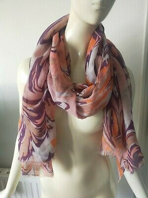 £12 • Buy New With Tags 'powder' Scarf Shawl Marble Print Large