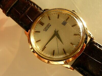 £65 • Buy Gents Citizen Eco Drive Solar Powered Gold Plated Watch E111-S079748 Working