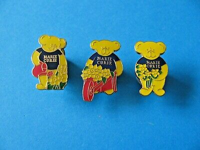 £3.99 • Buy 3, Marie Curie Gardening Pin Badges, Cancer Charity. Enamel. VGC