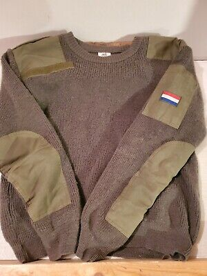 $24.99 • Buy VTG French Military Wool Sweater 1990s True Vintage Size 4 Olive Green