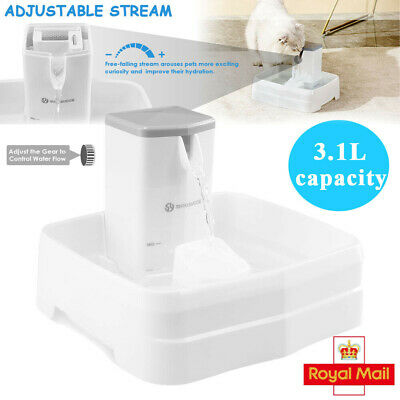 £7.69 • Buy 3.1L Automatic USB Electric Pet Water Fountain Cat/Dog Drinking Dispenser Filter
