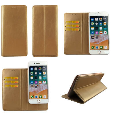 AU14.34 • Buy Premium Leather Mobile Phone Gold Wallet Flip Case For Sony Xperia XZ3 - XL