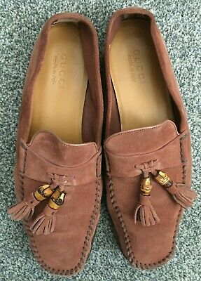 AU91.23 • Buy Gucci Men Loafers Size UK 9 Suede  Terracotta