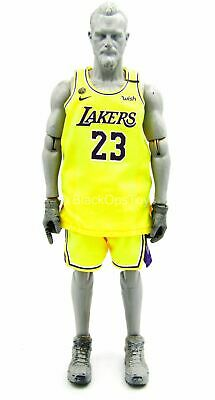 $45.50 • Buy 1/6 Scale Toy Los Angeles Lakers - LeBron James - Lakers Home Team Uniform Set