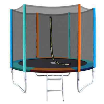 AU249 • Buy 8ft Round Trampoline - Safety Net Enclosure Padded Trampoline