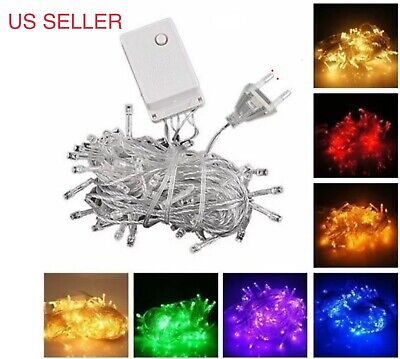 $6.29 • Buy CONNECTABLE 10M 100 LED Christmas Tree Fairy String Party Lights Lamp X'mas