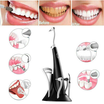 £11.99 • Buy 5In1 Tooth Polishing Cleaner Ultrasonic Electric Oral Teeth Cleaning Kit Dental