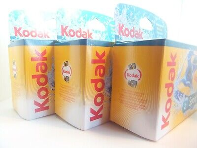 £46.99 • Buy 3x KODAK SPORT UNDERWATER WATERPROOF DISPOSABLE 35mm CAMERA Ist CLASS ROYAL MAIL