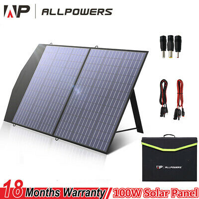 £129.99 • Buy 18V 100W Foldable Solar Panel MC4 Anderson Charger Camping Portable Generator UK