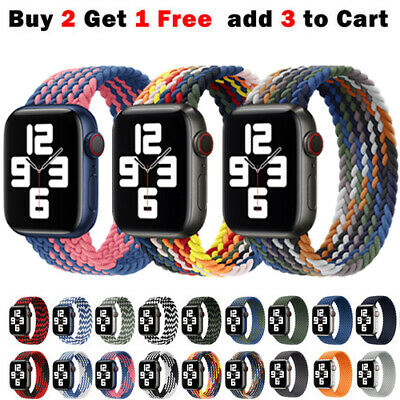 AU11.99 • Buy For Apple Watch Band Series 7 6 5 4 3 SE Nylon Braided IWatch Strap 38 40 42 44