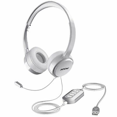 £16.79 • Buy Mpow USB 3.5mm Wired Computer PC Headset Headphones MIC For Call Center Skype