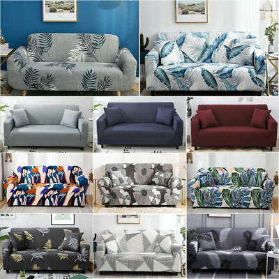 AU14.99 • Buy Sofa Covers 1/2/3/4Seater High Stretch Lounge Slip Protector Couch +Pillowcase