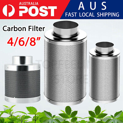 AU79.99 • Buy 4/6/8  Inch Carbon Filter Odor Control For Fan Grow Tent Hydroponics Environment