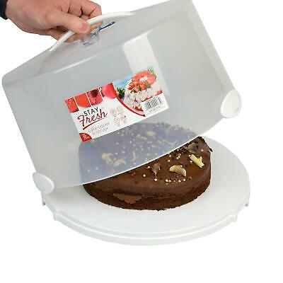 £11.99 • Buy Jumbo Cake Box Carrier With Slicer Re-Usable Plastic Two Tier Cake Container