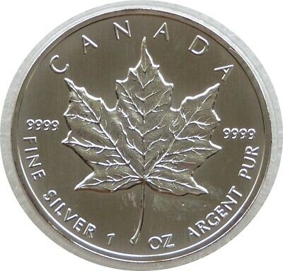 1994 Canada Maple Leaf $5 Five Dollar .9999 Silver 1oz Coin • 22£