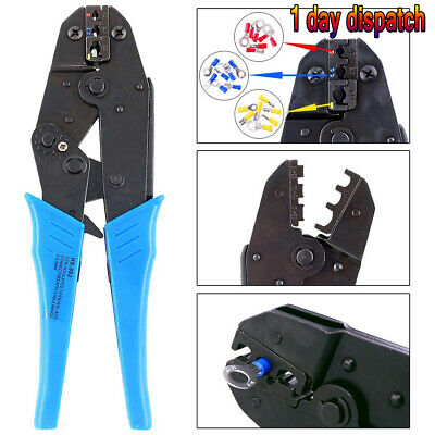 £9.95 • Buy PRO Ratchet Crimper Plier Crimping Tool Cable Wire Electrical Terminals Kit Sets