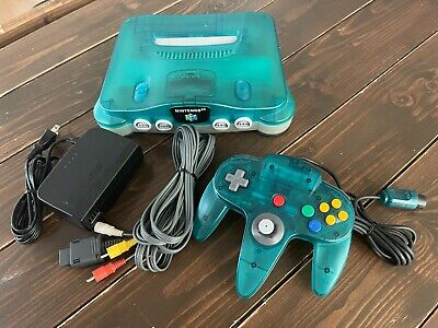 $ CDN142.37 • Buy Nintendo 64 N64 Game Console Clear Blue Japan Tested Working