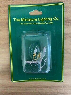 £3.99 • Buy 1:24 Scale Dolls House LTH42003 Candle Wired Wall Light Brand New