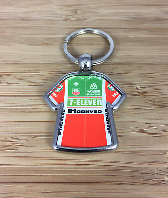 AU8.82 • Buy 7 Eleven Hoonved 1988 Andy Hampsten  Cycling Jersey Metal Key Ring Rouleur