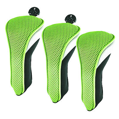 AU20.79 • Buy Golf Head Covers Driver 1 3 5 Fairway Woods Headcovers For Golf Clubs 3pcs Green