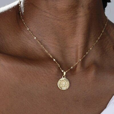 $1.27 • Buy A-Z Letter Stainless Steel Gold Initial Pendant Necklaces For Women Jewelry Gift