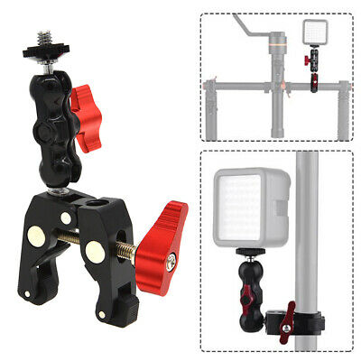 £8.97 • Buy Head With Ball Head Clamp Bracket And 1/4  20 Thread For DSLR Camera Monitor