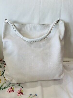 AU45 • Buy OROTON Kiera Hobo White Leather Bag Womens Tote Handbag Bag. Medium Size.