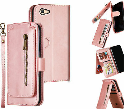 AU14.50 • Buy Oppo A59 F1s Multifunction Wallet Case 9 Card Slots Vertical Flip Front Zipper