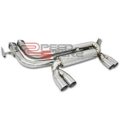 $245.99 • Buy Bmw E46 M3 Manual/smg Dual Catback Axle Back Stainless Exhaust Muffler 2.75  Tip