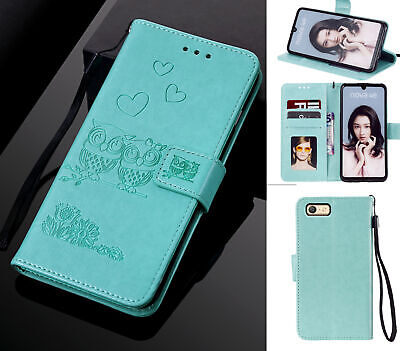 AU10.95 • Buy Oppo A39 A57 Wallet Case Embossed Pu Leather Twin Owl