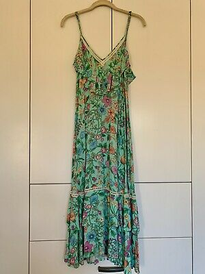 AU102.50 • Buy Spell And The Gypsy Sayulita Green Strappy Dress Size XS