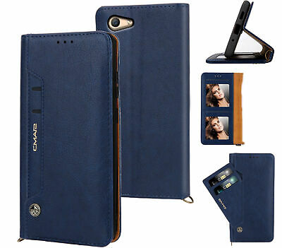 AU12.90 • Buy Oppo A59 F1s Leather Wallet Case Front Pocket 6 Cards