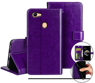 AU12.90 • Buy Oppo A73 A75 F5 Fine Leather Wallet Case Id Cash Compartment