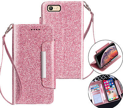 AU11.45 • Buy Oppo A39 A57 Luxury Glitter Wallet Case Id Wide Magnetic Closure