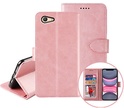 AU10.45 • Buy Oppo A59 F1s Wallet Case Cowhide Finish Pu Leather Magnet Card Slots Rosegold