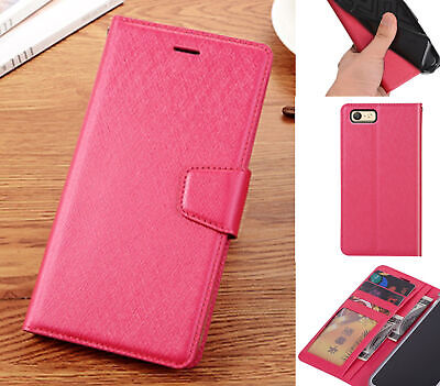 AU13.50 • Buy Oppo A39 A57 Wallet Case Shiny Wire Finish 4 Card Slots Dual Cash Pocket