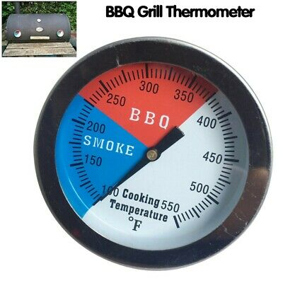 £5.29 • Buy 100-550℉ Steel Barbecue BBQ Oven Smoker Grill Thermometer Temperature Gauge