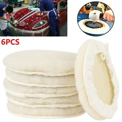 £9.49 • Buy 6x 7  Buffing Polishing Pads Wool Wheel Mop Kit For Car Cleaning Polisher Drill