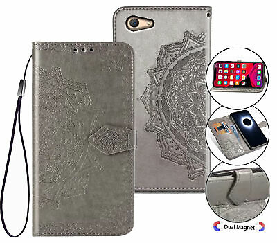 AU10.95 • Buy Oppo A59 F1s Wallet Case Embossed Pu Leather Half Mandala