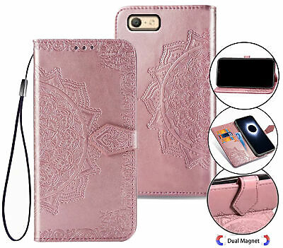 AU10.95 • Buy Oppo A39 A57 Wallet Case Embossed Pu Leather Half Mandala